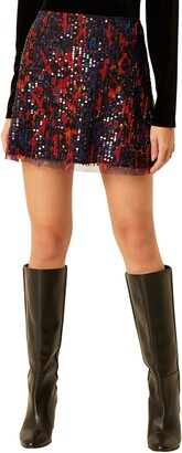 French Connection Inari Sequin Miniskirt