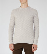 Reiss Prima Check Weave Jumper
