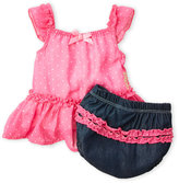 Juicy Couture Newborn/Infant Girls) Two-Piece Dress & Bloomers Set