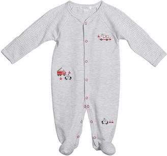 Kissy Kissy Boy's City Rescue Striped Footie Pajamas, Size Newborn-9M