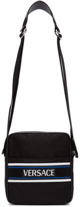 Versace Black Logo Messenger Bag