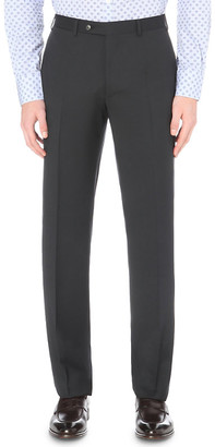 Canali Regular-fit straight wool trousers
