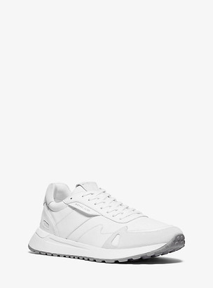 Michael Kors Miles Nylon and Leather Trainer - Optic White