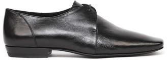 Saint Laurent Black Color Leather Lace-up Shoes