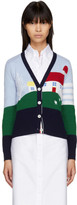 Thom Browne Multicolor Cashmere Barn House Classic V-Neck Cardigan