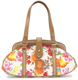 Christian Dior 2006 Pre-Owned Floral Frame Handbag