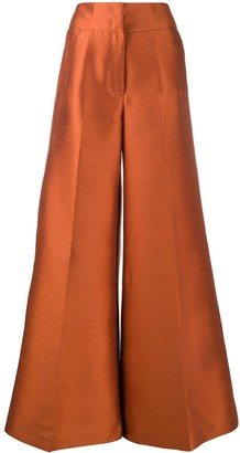 Pt01 High Waisted Wide-Leg Trousers