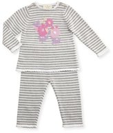 Kate Spade Floral Striped Sweater W/ Pants, Gray/White, Size 3-9 Months