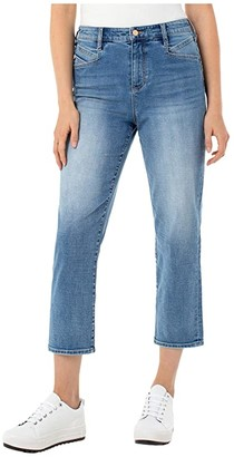 Liverpool High-Rise Slant Pocket Crop Straight in Thames (Thames) Women's Jeans