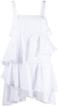 Charo Ruiz Ibiza Broderie-Trimmed Poplin Dress