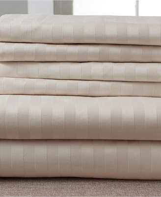 Stripe Luxury 1200-Thread Count 6-Pc. California King Sheet Set Bedding