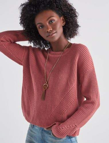 Back Lace Pullover