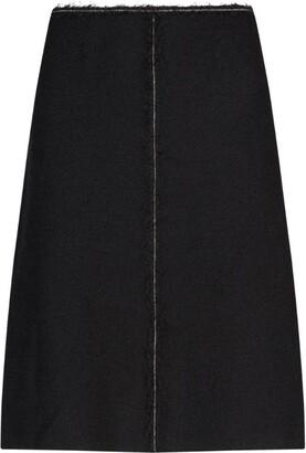 St. John Chain Trim Boucle Skirt