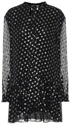 Saint Laurent Silk-blend fil coupA minidress