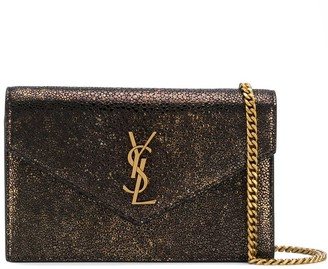 Saint Laurent monogram chain wallet