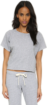 Monrow Cutoff Mini Raglan Crop Top