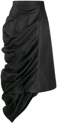 Y/Project Draped Satin Skirt