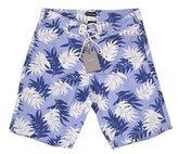 Tom Ford Mens Shorts Soft Blue Floral Print Swim Trunk.