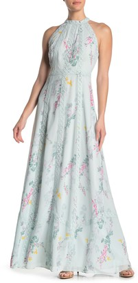 Ted Baker Dahleen Sorbet Lace Trim Halter Maxi Dress