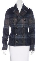 DSQUARED2 Double-Breasted Mohair Coat
