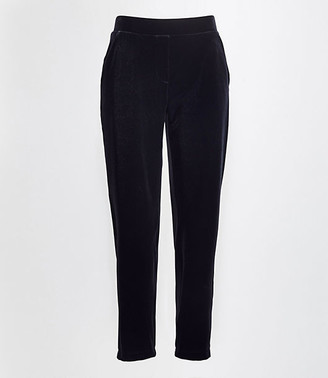 LOFT Tall Velvet Tapered Pull On Pants
