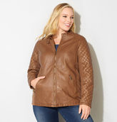 Avenue Quilted Faux Leather Moto Jacket