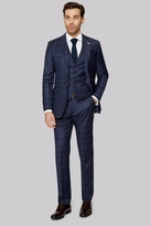Ted Baker Tailored Fit Navy Check Suit