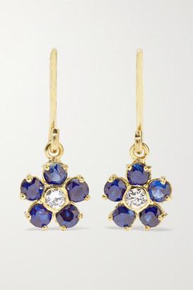 Jennifer Meyer Large Flower 18-karat Gold, Diamond And Sapphire Earrings