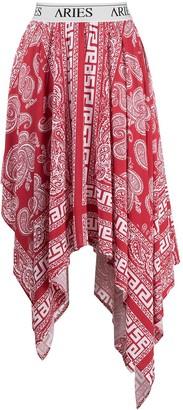 Aries Paisley-Print Handkerchief Skirt