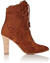 Ulla Johnson WOMEN'S EMBROIDERED AUDREY ANKLE BOOTS