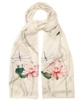 Alexander McQueen Waterlily fil coupé silk-blend scarf