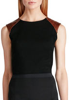 Polo Ralph Lauren Leather Trimmed Cotton Top
