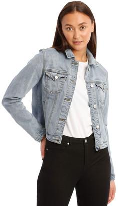 Miss Shop Mid-Blue Denim Jacket Mid