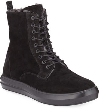 Kenneth Cole Men's Mover Lined Suede Lace-Up Boots