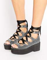 Asos OH MY! Lace Up Flatforms