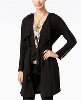 Thalia Sodi Open-Front Belted Draped Trench, Only at Macy's