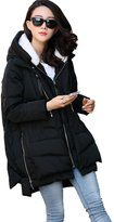 Zerlar Solid Thicken Cloths for Pregnant Women Maternity Winter Coat (M,)