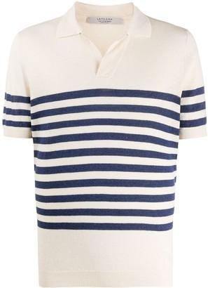 La Fileria For D'aniello Striped Polo Shirt