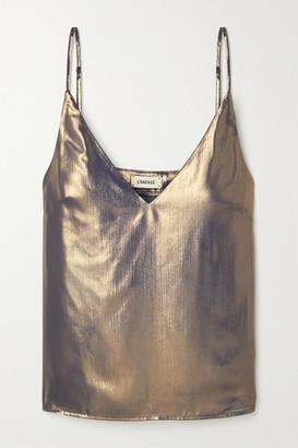 L'Agence Gabriella Metallic Crepe De Chine Camisole - Gold