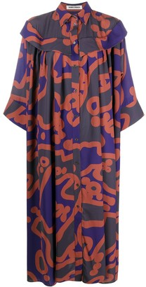 Henrik Vibskov Abstract-Print Smock Dress