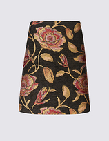 M&S Collection Floral Jacquard Straight Mini Skirt