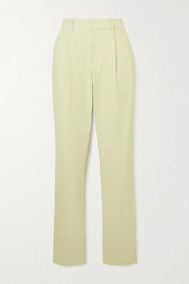 Area Crystal-embellished Cady Straight-leg Pants - Beige