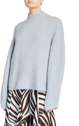 3.1 Phillip Lim Mock-Neck Drop-Shoulder Pullover Sweater
