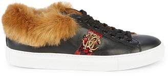 Roberto Cavalli Faux Fur & Leather Sneaker