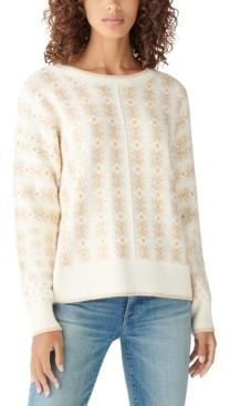 Lucky Brand Shine Fair Isle Pullover Sweater