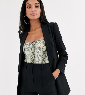 Asos Tall DESIGN Tall mix & match suit blazer-Black