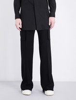 Rick Owens Tailored-fit wool-blend trousers