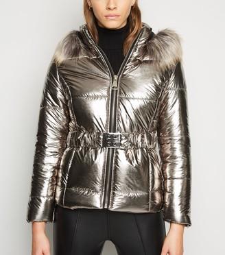 New Look Cameo Rose lic Puffer Coat