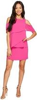 Tahari by Arthur S. Levine Petite Draped Cold Shoulder Shift Dress Women's Dress