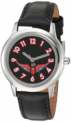 Disney Girls Coco Stainless Steel Analog-Quartz Watch with Leather-Synthetic Strap